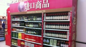 上海市内スーパーマーケットのオリーヴオイル売場